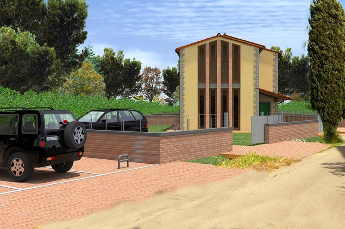 Progettazione direzione lavori e coordinamento della sicurezza di tre villette nel Comune di Buggiano